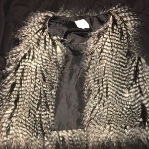 Faux fur children's vest
